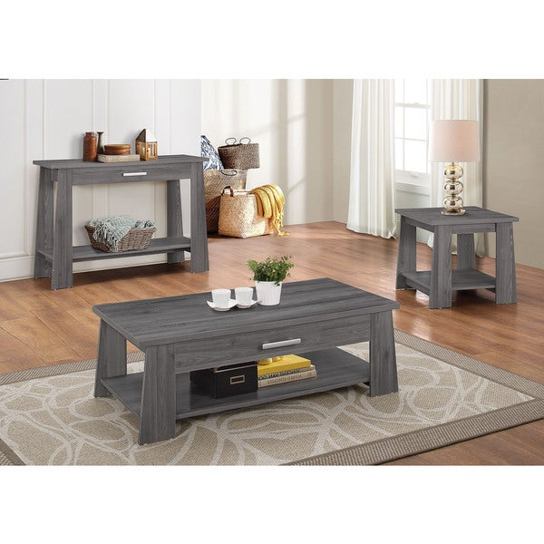Falan Dark Grey Veneer/MDF Coffee Table