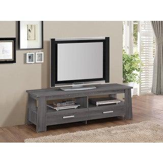91725 Dark Grey Veneer MDF 63-inch x 18-inch x 20-inch Falan TV Stand