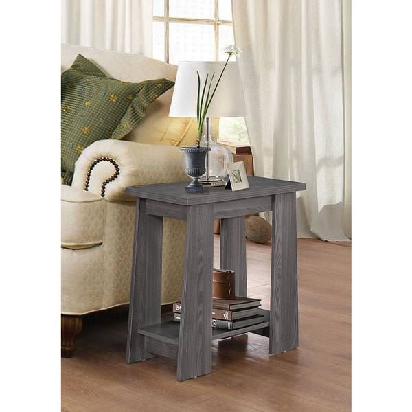 Falan Dark Grey Side Table