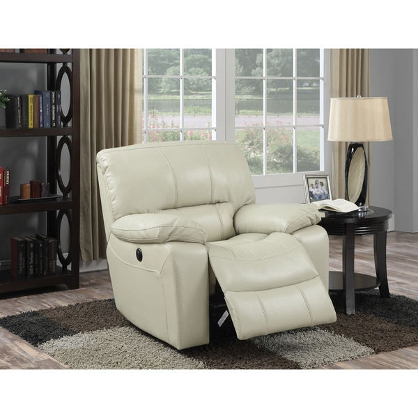 Kimberly Power Motion Cream Leather-aire Recliner
