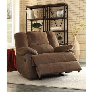 Oliver Chocolate Corduroy Oversized Motion Glider Recliner