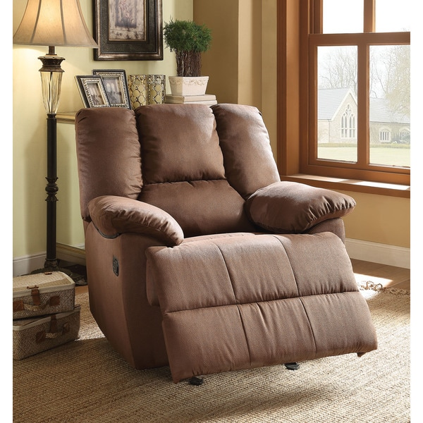 Oliver Dark Brown Nubuck Glider Recliner