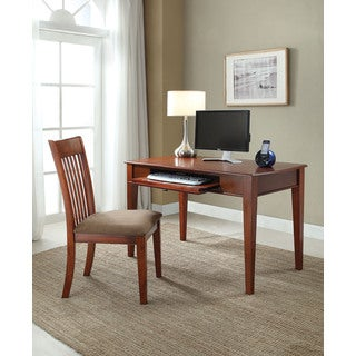 Venetia Oak Finish 2-piece Desk and Chair Set