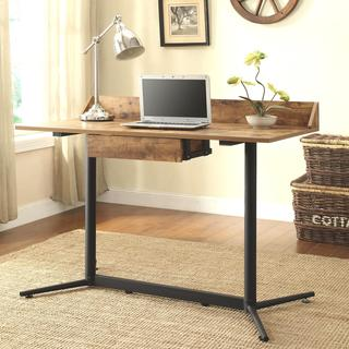 Baxton Studio Greyson Vintage Industrial Bronze Wood Desk