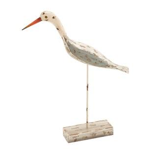 Wood Sea Bird Figurine