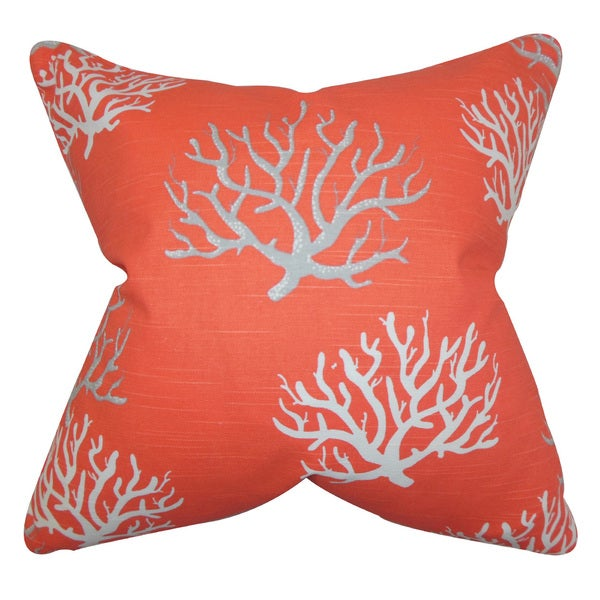 Hafwen Throw Pillow Cover Salmon
