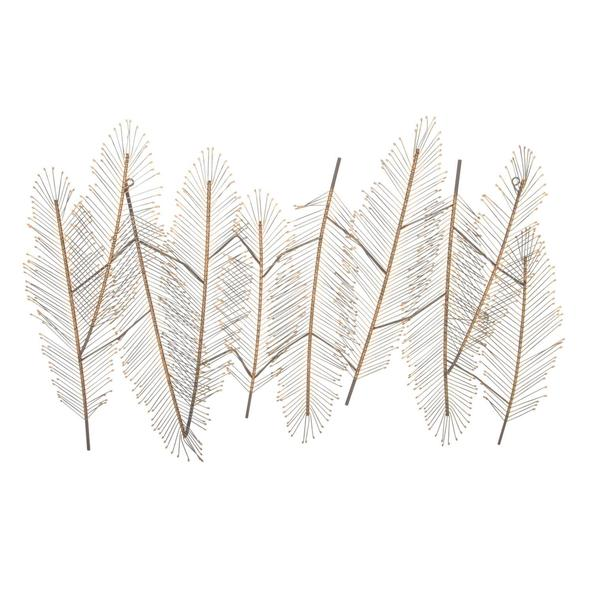 Metal Feather Wall Decor