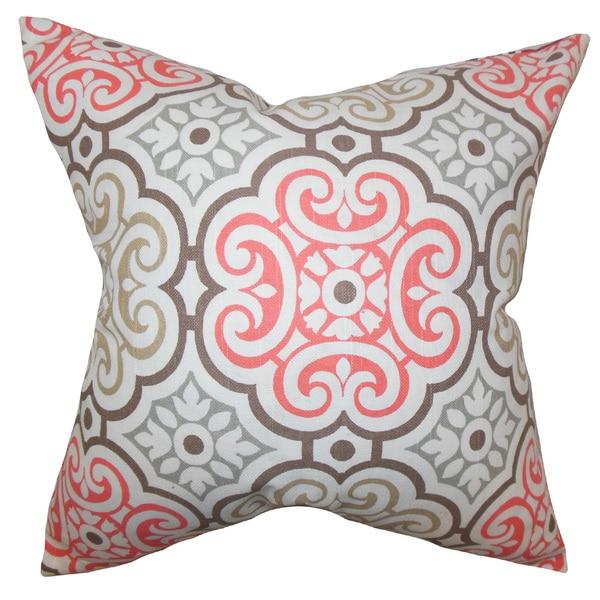 Nascha Geometric Throw Pillow Cover Bitter Sweet