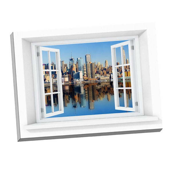 Picture It New York City Paradise Window Art Stretched Canvas