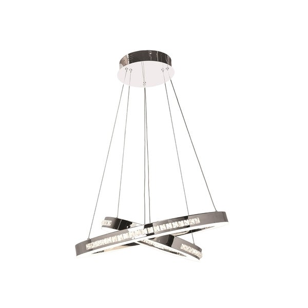Access Lighting Affluence Chrome LED Dual Ring Pendant
