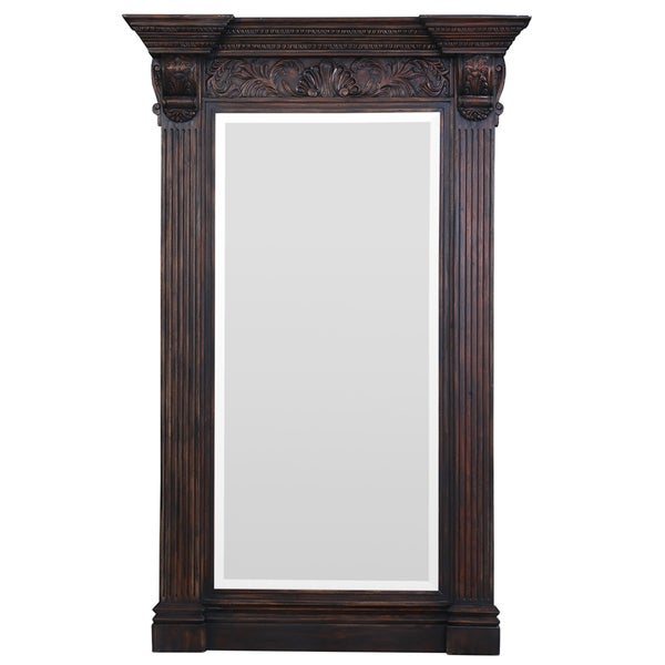 Bramble Co. Charleston Vintage Black Standing Mirror