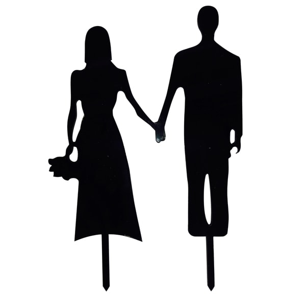 Couple Silhouette Acrylic Wedding Cake Topper