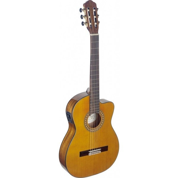 Angel Lopez SIL-TCE HG Silvera Series Thin Body Cutaway Acoustic-Electric Classical Guitar 19230425