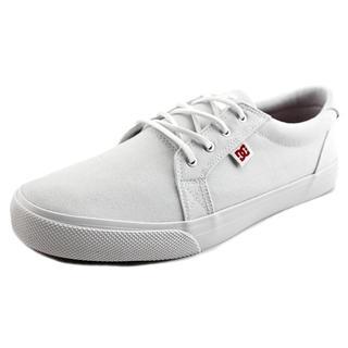 DC Shoes Women's Council TX SE White Cotton Canvas Athletic Skate Shoes