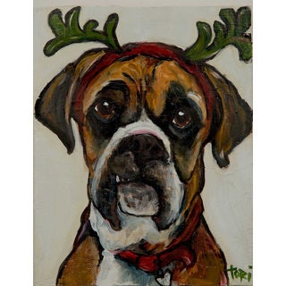 Marmont Hill 'Boxer's Xmas' Painting Print on Wrapped Canvas