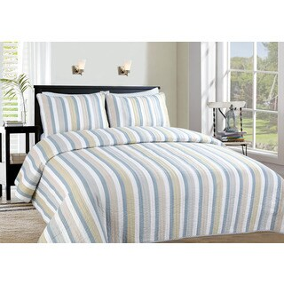 Harbor Reversible 3-piece Quilt Set