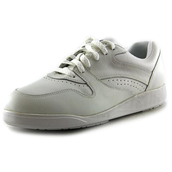 Hush Puppies Women's Upbeat White Leather Athletic Shoes