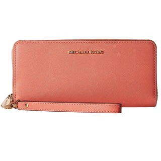 Michael Kors Jet Set Pink Grapefruit Travel Continental Wallet