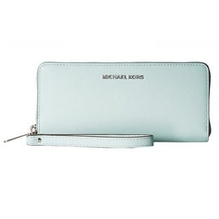 Michael Kors Jet Set Celadon Travel Leather Continental Wallet