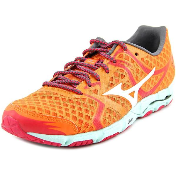 Mizuno Women's Wave Hitogami Orange Mesh Athletic Running Shoes