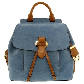 Michael Kors Romy Medium Denim Suede Backpack