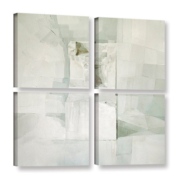 Daniel Cacouault's 'White' Gallery 4 Piece Gallery Wrapped Canvas Square Set