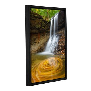 Cody York's 'Blue Hen Falls Swirling Leaves' Gallery Wrapped Floater-framed Canvas