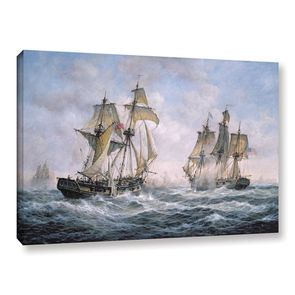 Richard Willis's 'Action Between U.S. Sloop-Of-War 'Wasp' And H.M. Brig-Of-War 'Frolic', 1812' Gallery Wrapped Canvas