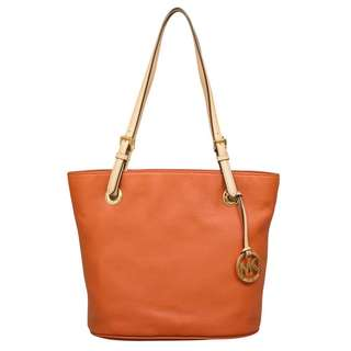 Michael Kors Medium Jet Set Burnt Orange Leather Tote Bag