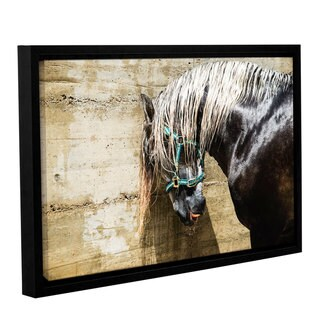 Andrew Lever's 'Wet Horse' Gallery Wrapped Floater-framed Canvas