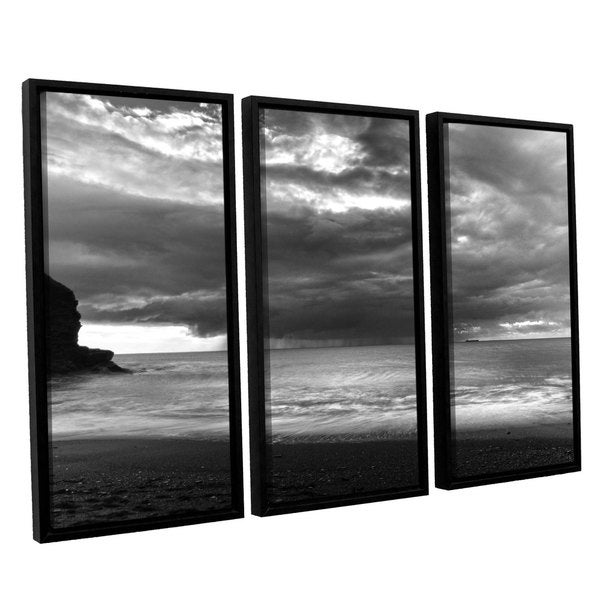 Chris Tuff's 'Boat On The Horizon' 3 Piece Floater Framed Canvas Set