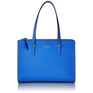 Kate Spade New York Cedar Street Jensen Adventure Blue Leather Tote Bag