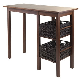 Egan 3-Pc Breakfast Table with 2 Baskets Set