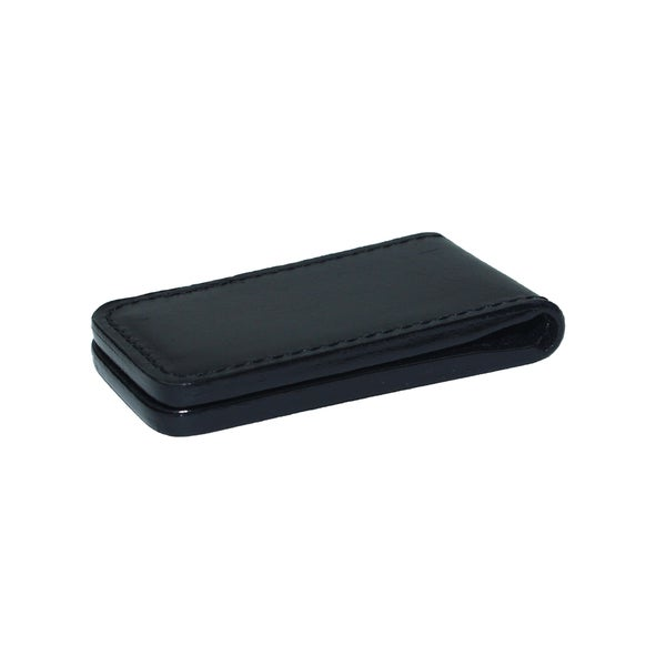 Royce Black Leather Magnetic Money Clip Wallet