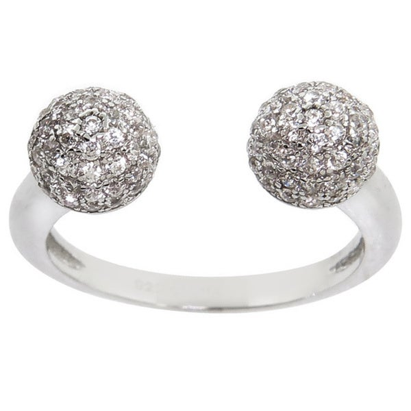 Eternally Haute Pave Disco Ball Ring