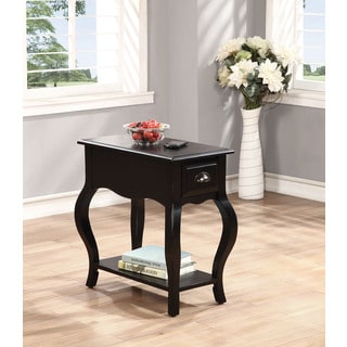 White accent side table 16547280 for Furniture of america inomata geometric high gloss coffee table