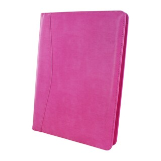 Royce Leather Aristo Breast Cancer Pink Padfolio Document Organizer