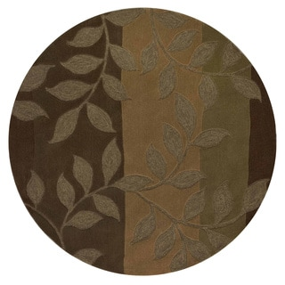 East Side Olive Wool Round Rug (8' x 8')