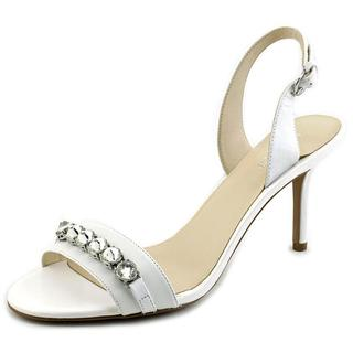 Nine West Women's Ganiston White Leather Dress Shoes