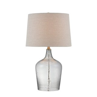 Panthea Glass and Metal Table Lamp