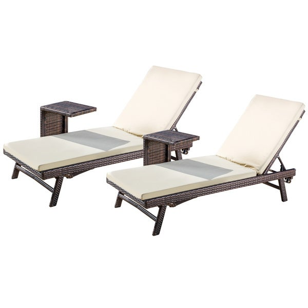 Christopher knight home waveland outdoor 4 piece wicker for Barcelona chaise lounge set