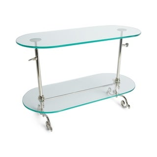 Nickel-plated 2-tier Adjustable Pastry Stand