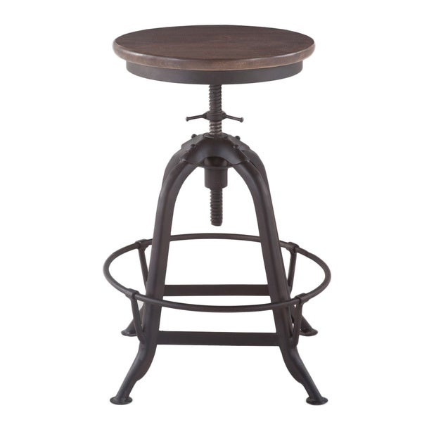 Solid Wood Barstool with Iron Metal Brown Mango Wood Iron  : Mango Wood and Iron Adjustable Bar Stool Brown and Metal e9eda493 a682 41d0 85a4 de9e51ba9d57600 from www.overstock.com size 600 x 600 jpeg 14kB