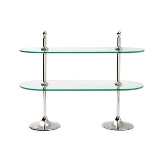 Polished Nickel and Clear Tiered Stand