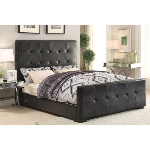 Lorelei Black PU Queen Bed