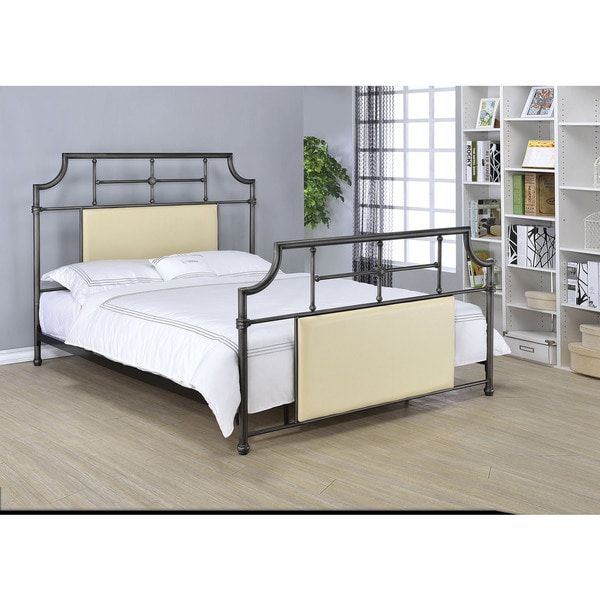Xava Antique Black/Beige Queen Bed