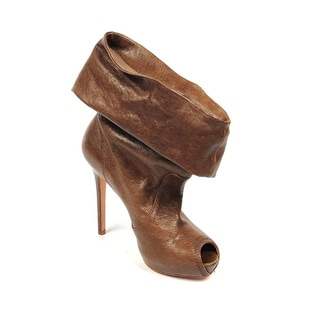 Alexander McQueen 254406 WA2B0 2040 Brown Leather Ankle Boots