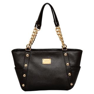Michael Kors Medium Delancy Black Shoulder Tote Bag
