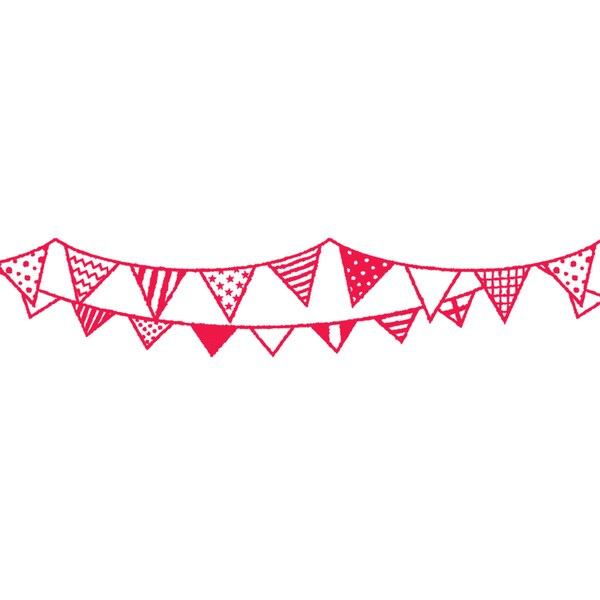 Mini Party Flag Bunting Deco Roller