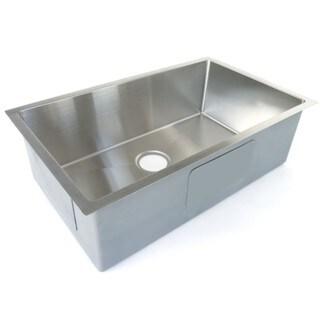 Starstar Stainless-steel 32.75-inch x 18-inch Undermount Single-bowl 16-gauge Kitchen Sink with Accessories